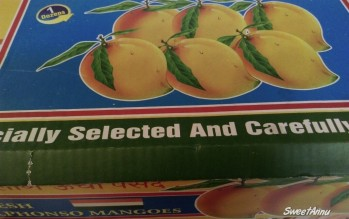 Selected best Mangoes from Hypercity