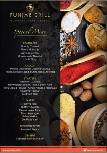 The Summer Special Menu