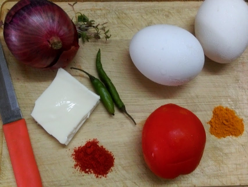 ingredients for Akuri